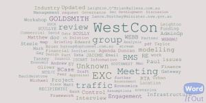 Word cloud of West Connex Non Privilege<br />